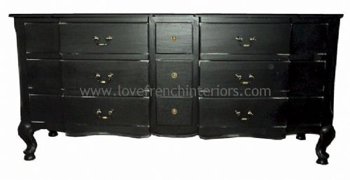 Rochelle 9 Drawer French Chest in your choice of colour
